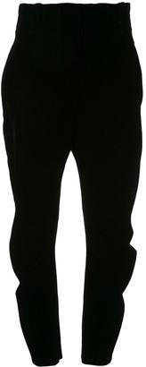 Giorgio Armani high-waisted velvet trousers