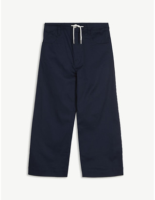 Marni Cropped wide-leg cotton trousers 6-14 years