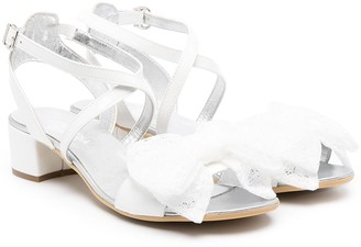 MonnaLisa TEEN front ribbon sandals
