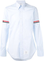 Thom Browne striped band classic shirt - men - Cotton - 00