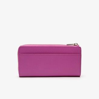 Lacoste Womens Chantaco Pique Leather 8-Card Zip Wallet