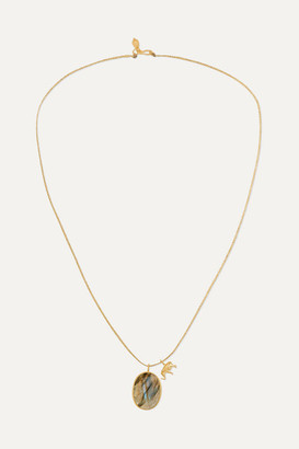 Pippa Small 18-karat Gold Labradorite Necklace - one size