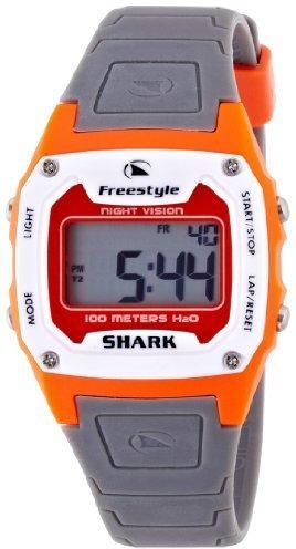 Freestyle (フリースタイル) - [フリースタイル]Freestyle スポーツウォッチ SHARK CLASSIC デジタル表示 ストップウォッチ・タイマー機能付き 10気圧防水 オレンジ×グレー FS80988 メンズ 【正規輸入品】