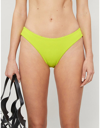 Selfridges Hailey Bieber x Kelia Moniz neon high-rise bikini bottoms