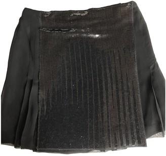 Philosophy di Alberta Ferretti Black Glitter Skirt for Women