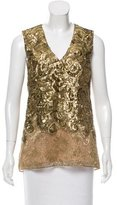 Vera Wang Metallic Sleeveless Top w/ Tags