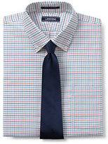 Lands' End Men's Tailored Fit Pattern No Iron Supima Oxford-White
