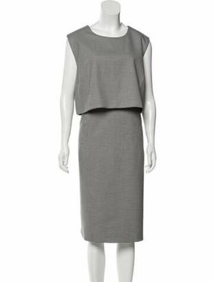 Toccin Houndstooth Print Midi Length Dress w/ Tags Black