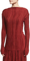 The Row Monti Long-Sleeve Pleated Top