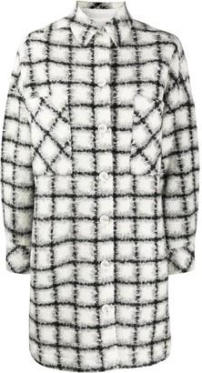IRO Plaid Print Coat