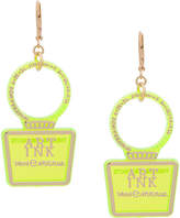 Theatre Products transparent logo earrings