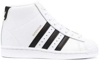 adidas Superstar Up leather high-top sneakers