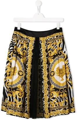Versace TEEN Savage Barocco print skirt