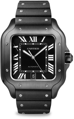 Cartier Santos de Large Stainless Steel Two-Strap Chronograph Watch