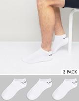 Vans 3 Pack Classic Sneaker Socks In White VXS8WHT