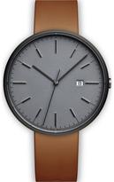 Uniform Wares Men's M40 Pvd Grey Italian Nappa Leather Wristwatch Tan