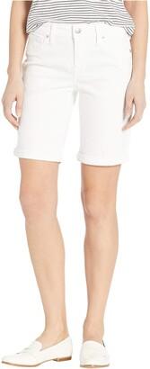 Lucky Brand Women's MID Rise Bermuda Short in White 26 (US 2)