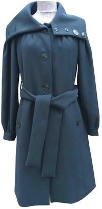 Cacharel Navy Wool Coat for Women
