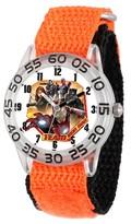 Marvel Boys' Marvel's Civil War Clear Plastic Time Teacher Watch - Orange