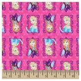 Disney Frozen Sisters Framed Flannel Fabric