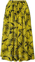Diane von Furstenberg pleated daffodil skirt