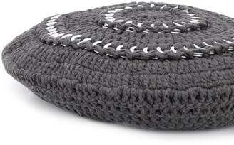Ganni Ring Detail Knitted Beret