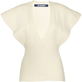 Jacquemus Cap Sleeve Ribbed Blouse