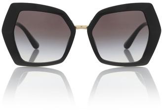 Dolce & Gabbana Monogram oversized sunglasses