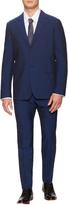 Jil Sander Men's Wool Sharkskin Blue Slim Fit Suit