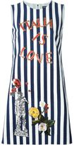 Dolce & Gabbana Italia embroidery striped dress - women - Silk/Cotton/Spandex/Elastane/glass - 42