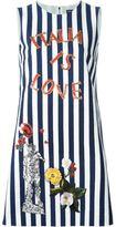 Dolce & Gabbana Italia embroidery striped dress