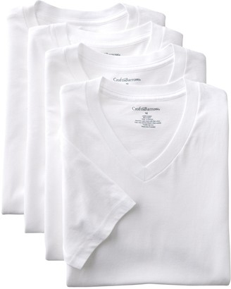 Croft & Barrow Big & Tall 4-pk. V-Neck Tee