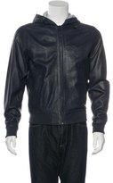 Michael Kors Leather Hooded Jacket