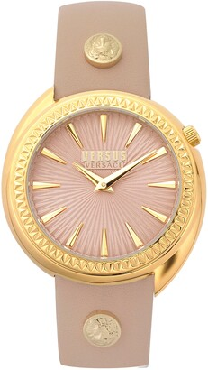 Versace Tortona Leather Strap Watch, 38mm