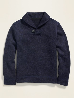 Old Navy Fleece-Knit Shawl-Collar Pullover for Boys