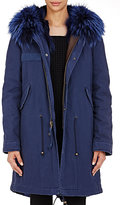 Mr & Mrs Italy Women's Canvas Fur-Trimmed Parka