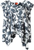Vivienne Westwood asymmetrical ruffled blouse