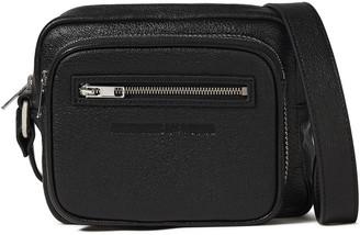 McQ Glossed Pebbled-leather Shoulder Bag