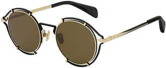 Rag & Bone Round Cutout Metal Sunglasses