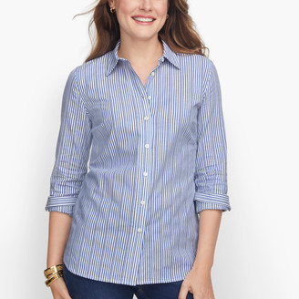Talbots Classic Cotton Shirt - Dobby Stripe