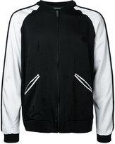 Christian Dada contrast bomber jacket - men - Cotton/Linen/Flax/Rayon - 48