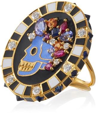 Holly Dyment Diamond Memento Mori Skull Ring