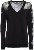 McQ by Alexander McQueen Lace Panelled Sweatshirt