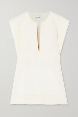 Matteau - Oversized Frayed Linen Poncho - Ivory