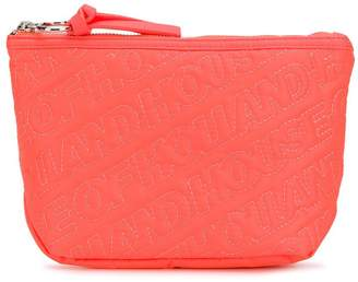 House of Holland embroidered logo clutch