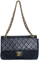 Chanel Navy Quilted Lambskin Leather Medium Double Flap Bag