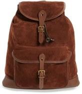 Polo Ralph Lauren Men's Suede Backpack - Brown