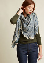 ModCloth I Flaunt to Get Away Blanket Scarf in Blue
