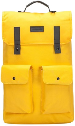 Consigned Twin Front Pocketed Backpack Yellow