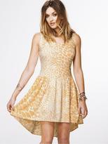 Animal Print Gather Skirt Dress